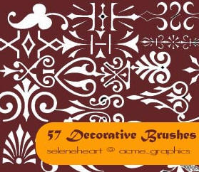Decorative Brushes for Photoshop