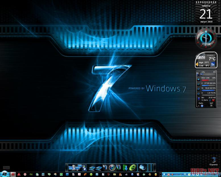 Тема для windows 7 cube 7 2010 x32 x64